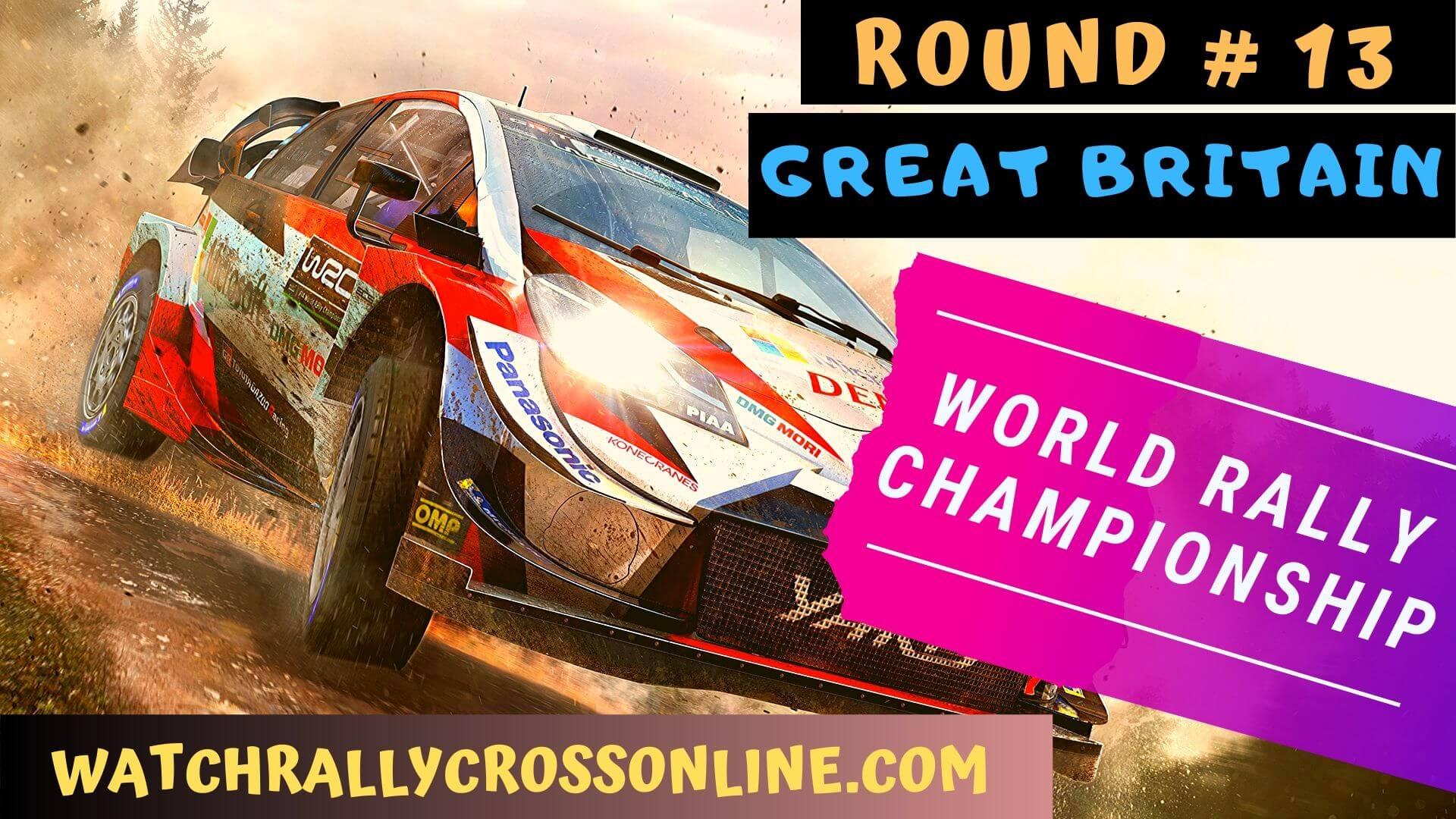 WRC Great Britain Live Stream 2020 | Round 13